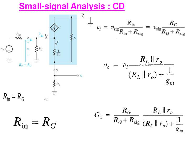 Small-signal Analysis : CD