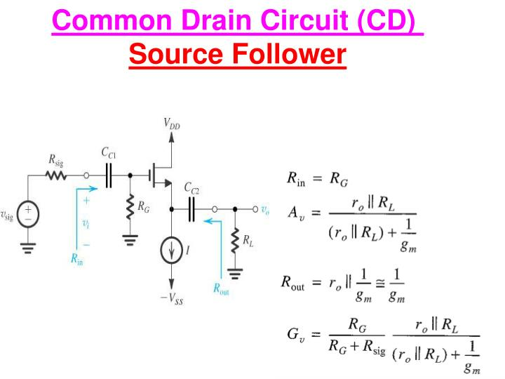 Common Drain Circuit (CD)