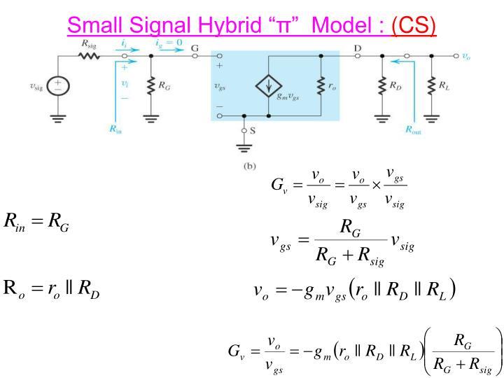 "Small Signal Hybrid """