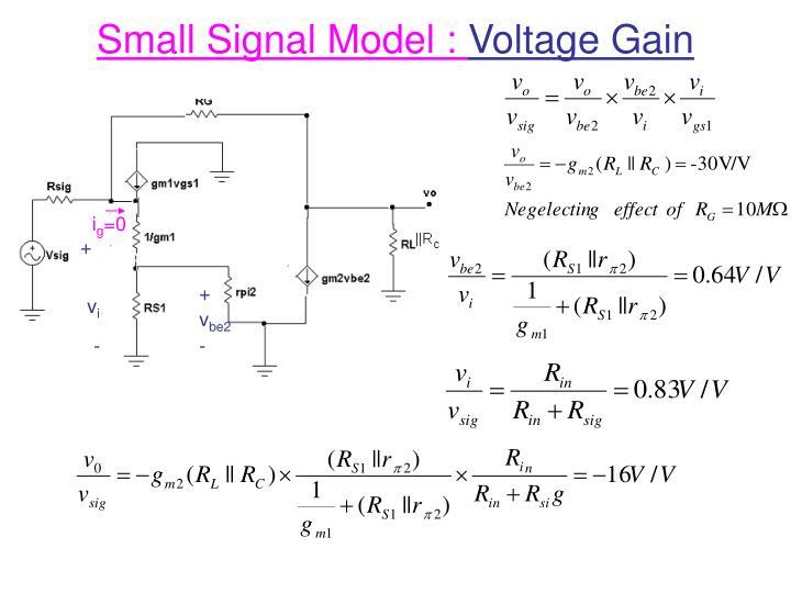 Small Signal Model :