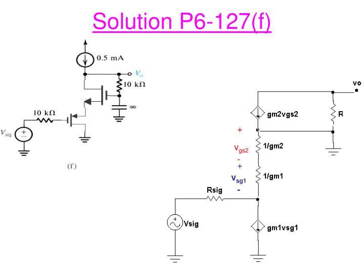 Solution P6-127(f)