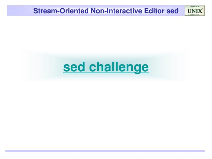 sed challenge