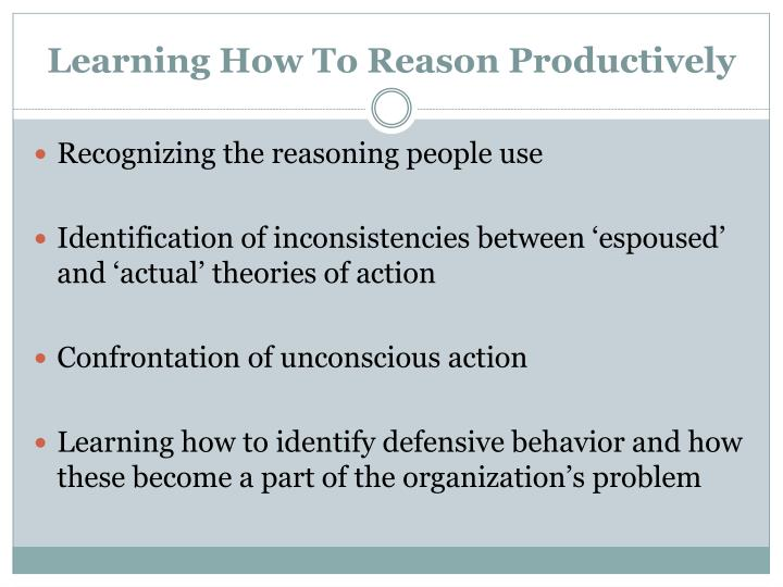 Learning How To Reason Productively