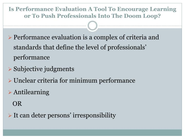 Is Performance Evaluation