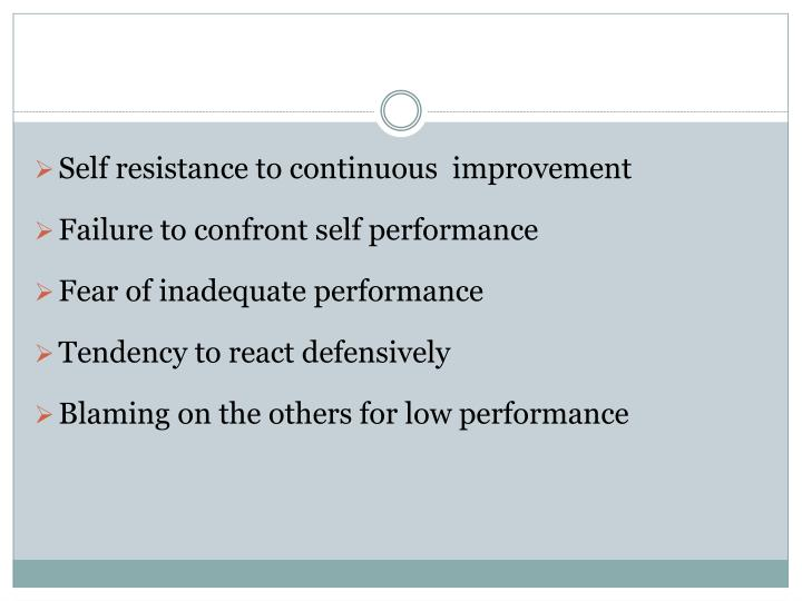 Self resistance to continuous