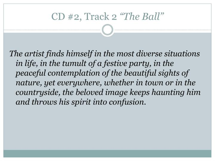 CD #2, Track 2