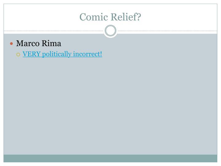 Comic Relief?