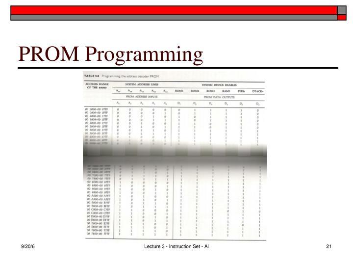 PROM Programming