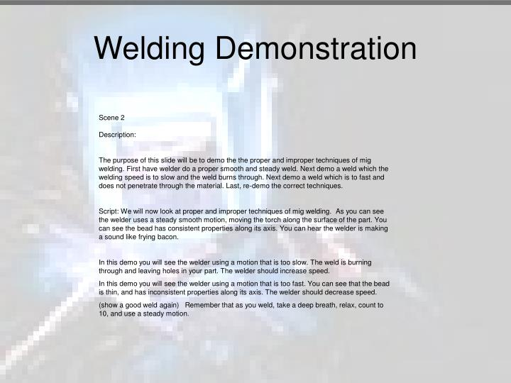 Welding Demonstration