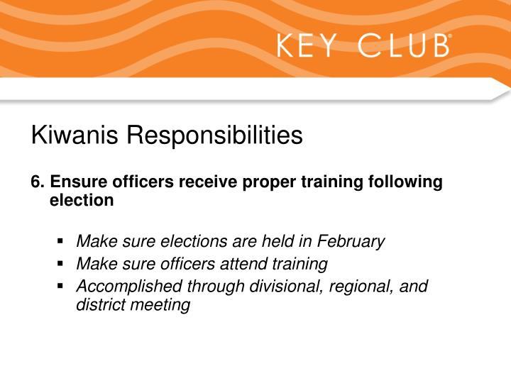 Kiwanis Responsibilities