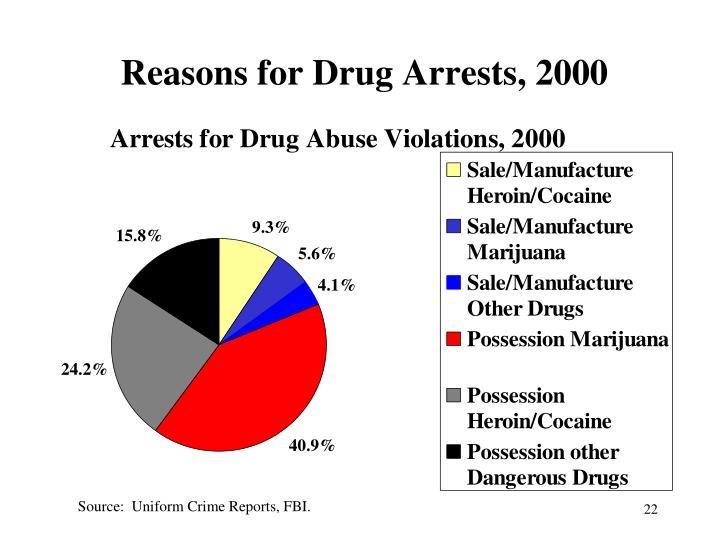 Reasons for Drug Arrests, 2000