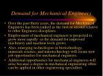 demand for mechanical engineers