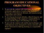 program educational objectives1