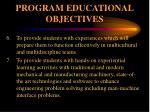 program educational objectives2