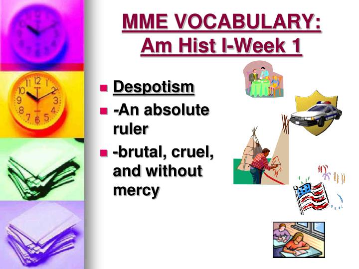 Mme vocabulary am hist i week 11