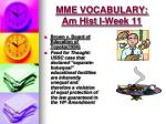 mme vocabulary am hist i week 111