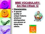 mme vocabulary am hist i week 12