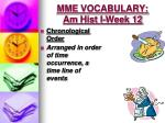mme vocabulary am hist i week 122