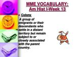 mme vocabulary am hist i week 131