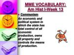 mme vocabulary am hist i week 132