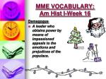 mme vocabulary am hist i week 16