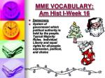 mme vocabulary am hist i week 161