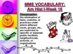 mme vocabulary am hist i week 162