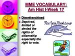 mme vocabulary am hist i week 17
