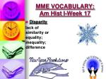 mme vocabulary am hist i week 171