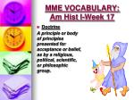 mme vocabulary am hist i week 172