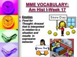 mme vocabulary am hist i week 175