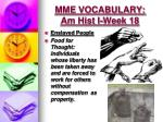 mme vocabulary am hist i week 18