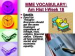 mme vocabulary am hist i week 183