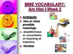 mme vocabulary am hist i week 21