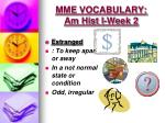 mme vocabulary am hist i week 24