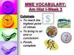 mme vocabulary am hist i week 31