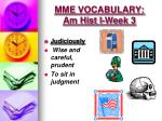 mme vocabulary am hist i week 34
