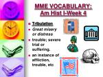 mme vocabulary am hist i week 42