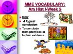 mme vocabulary am hist i week 5