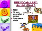 mme vocabulary am hist i week 53