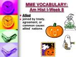 mme vocabulary am hist i week 81
