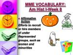 mme vocabulary am hist i week 82