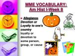 mme vocabulary am hist i week 83