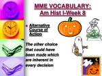 mme vocabulary am hist i week 84
