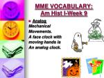 mme vocabulary am hist i week 9