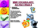 mme vocabulary am hist i week 92