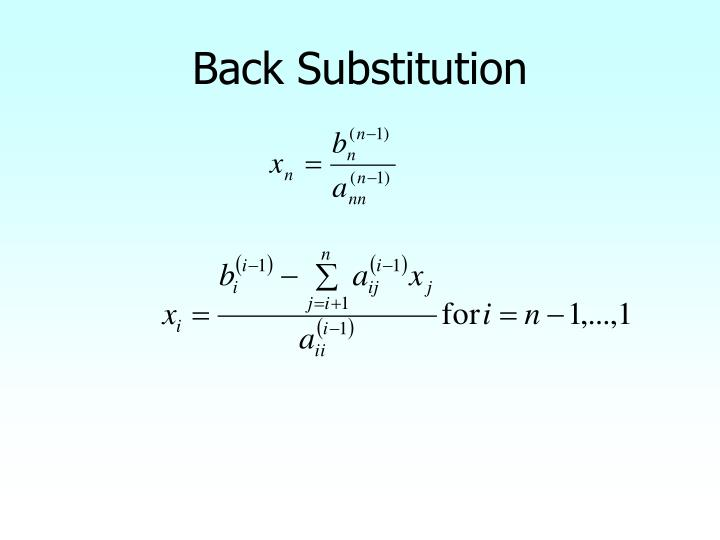 Back Substitution