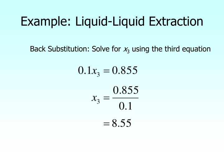 Example: Liquid-Liquid Extraction