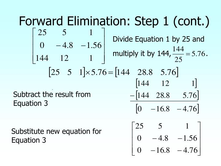 Forward Elimination: Step 1 (cont.)