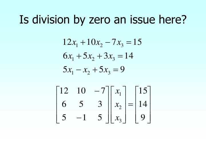 Is division by zero an issue here?